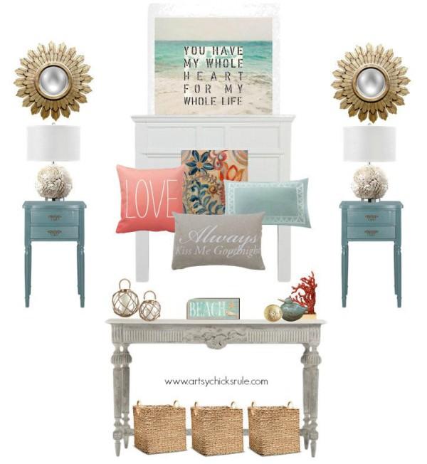 Master Bedroom Plans & a Mood Board - with a splash of color - artsychicksrule