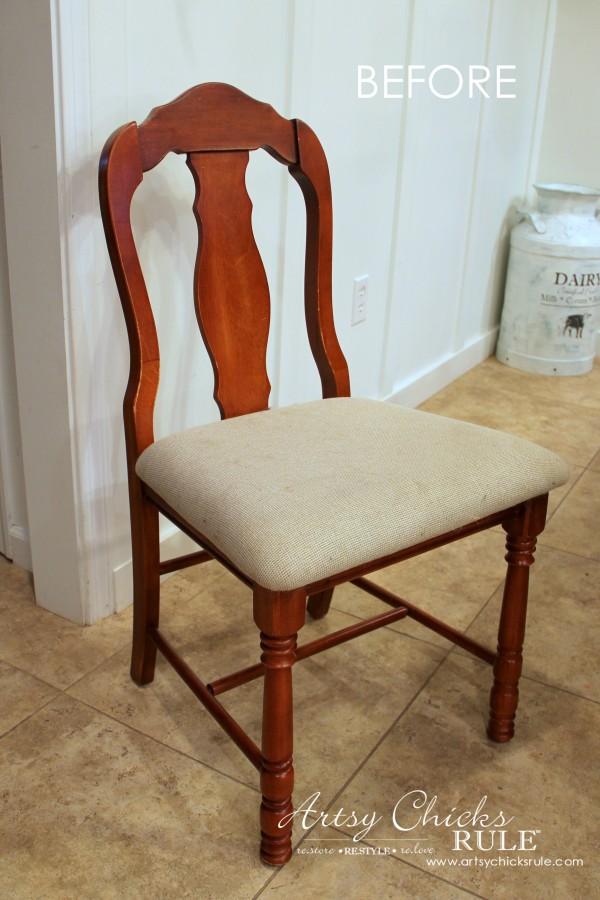 Zebra Chair Makeover (Animal Theme)  - BEFORE - $5 dollar thrifty makeover - artsychicksrule