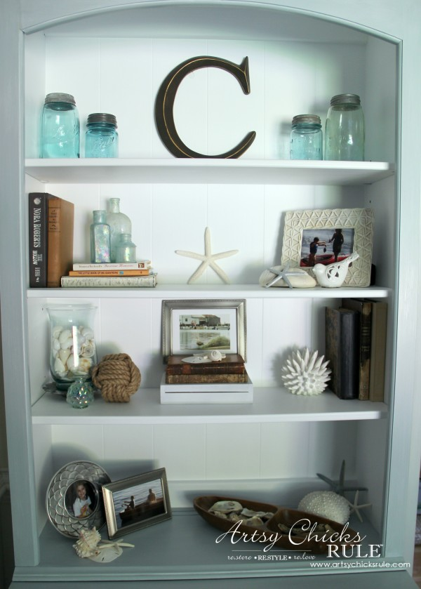 Coastal Styled Bookshelves How To Style Shelves Artsy