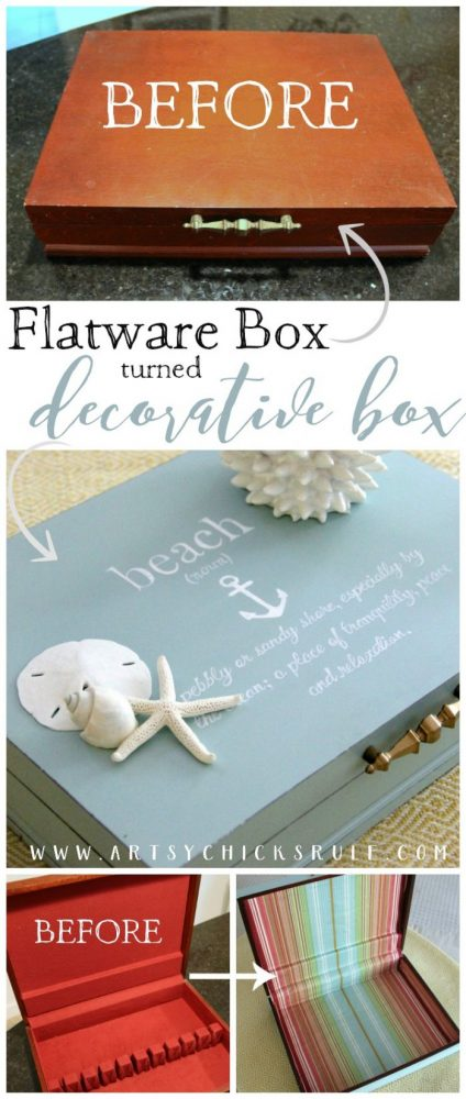 Thrifted Flatware Box Makeover!! - Like NEW decor thrifty - artsychicksrule.com