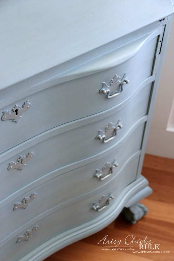 Secretary Desk Makeover (Chalk Paint® by Annie Sloan) - AFTER front - #MadeItMyOwn #sp #chalkpaint artsychicksrule