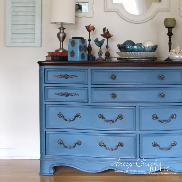 Aubusson Blue Dresser Re-do and missing handle