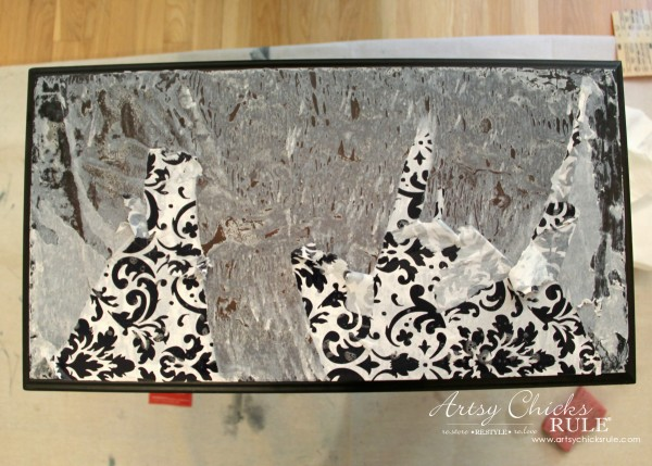Easy Makeover with Spray Paint, Mod Podge & Wrapping Paper - oops - artsychicksrule #modpodge