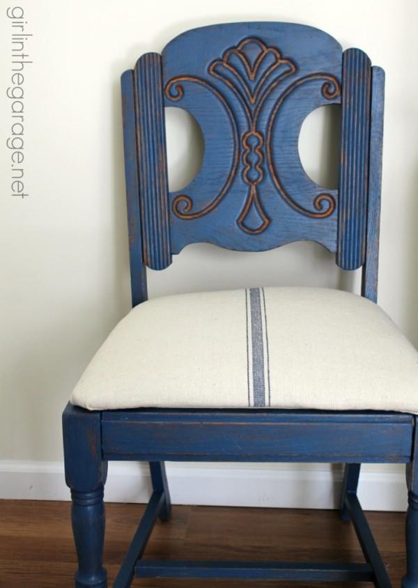 IMG_4928-blue-vintage-chair-makeover-grain-sack-Girl inthe Garage