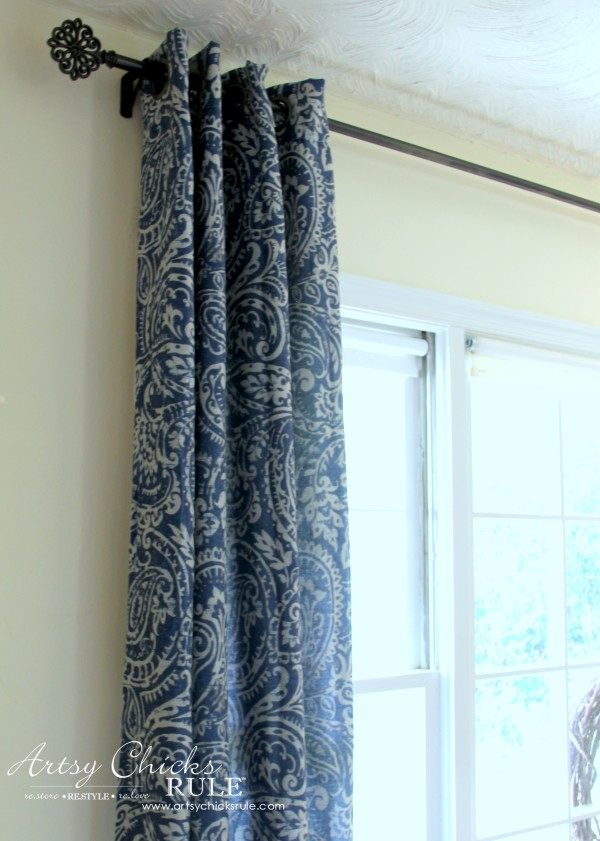 Master Bedroom Makeover Progress - Budget Makeover - Curtain Panel KOHLS - artsychicksrule