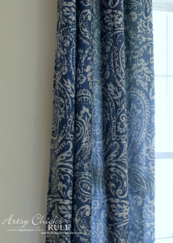Master Bedroom Makeover Progress - Budget Makeover - Curtain Panels KOHLS - artsychicksrule