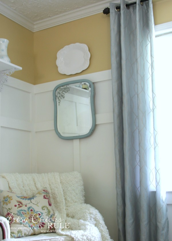 Master Bedroom Makeover Progress - Budget Makeover - Curtains KOHLS - artsychicksrule