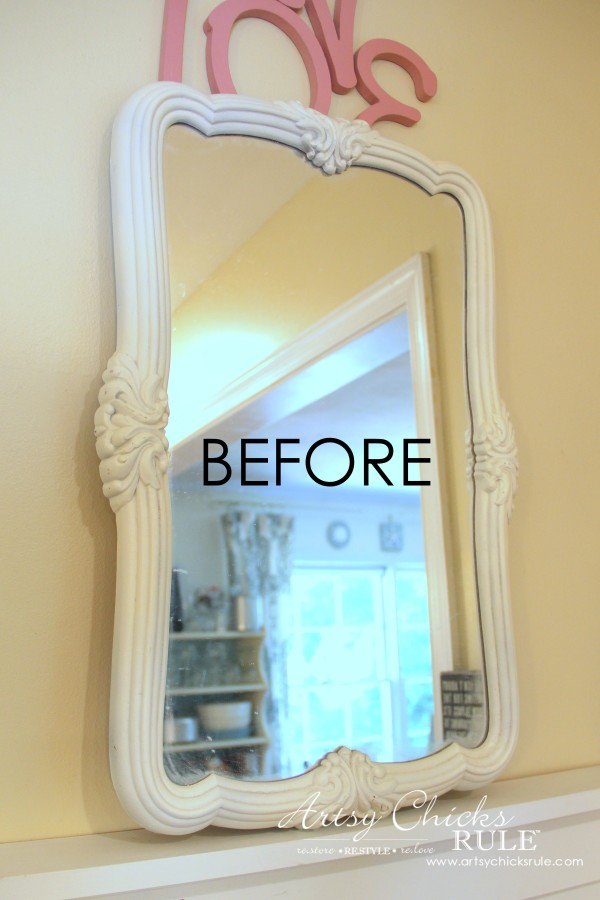 Thrifty Mirror to Chalkboard (Trash to Treasure) artsychicksrule