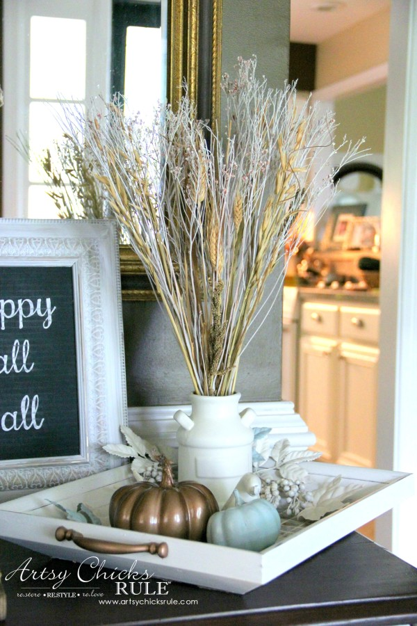 Adventures In Decorating Our 2015 Fall Kitchen: Welcoming Fall Foyer (Decorating Challenge