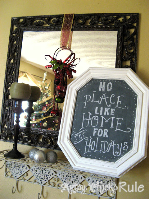 Chalkboard from Thrifty Frame - artsy chicks rule