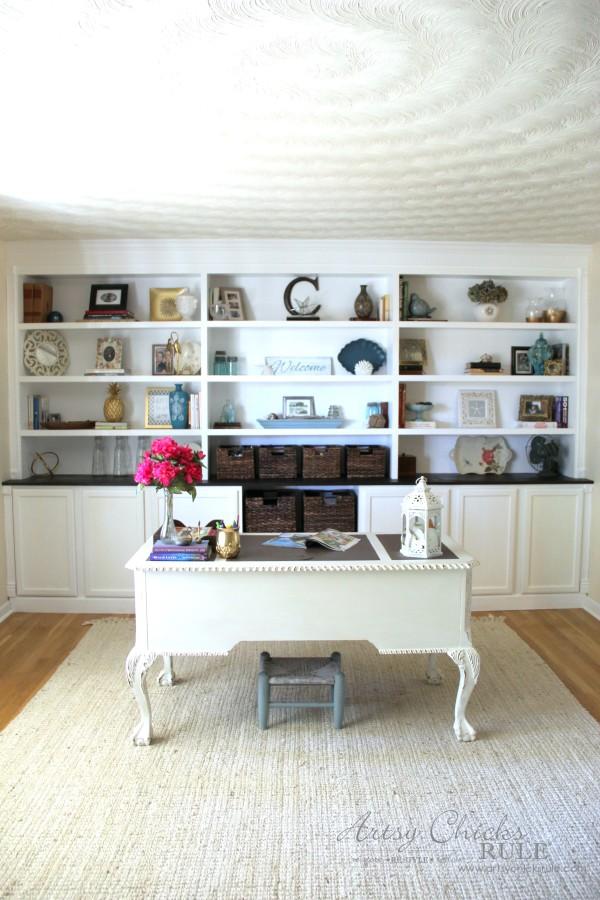 DIY Built In Bookcase Reveal - Artsy Chicks Rule®