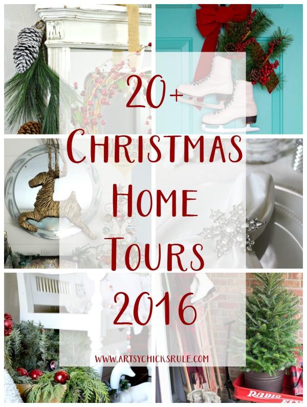 20+ Christmas Home Tours - artsychicksrule #Christmashometour