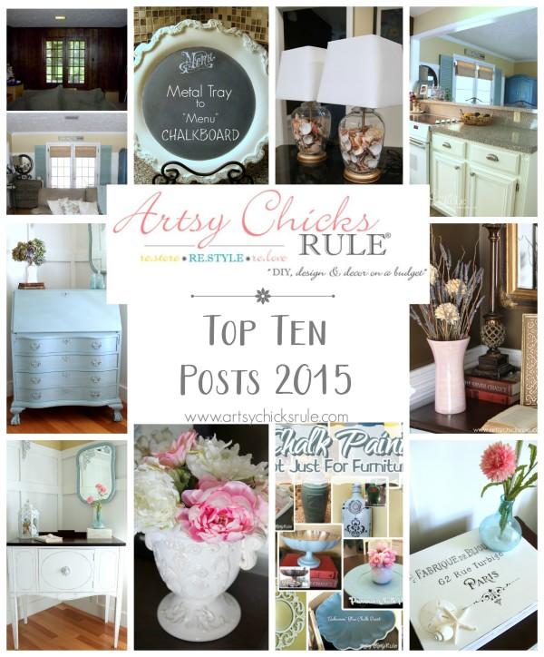 Artsy Chicks Rule Top Ten Posts 2015 - artsychicksrule.com
