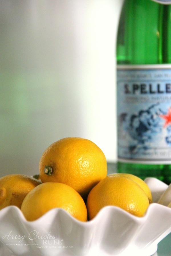 Beverage Cart Goes Glam (Trash to Treasure) - Lemons - artsyhchicksrule #beveragecart