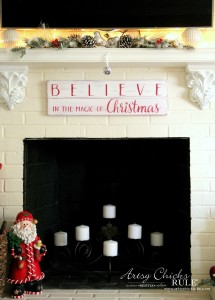 BELIEVE Christmas Sign