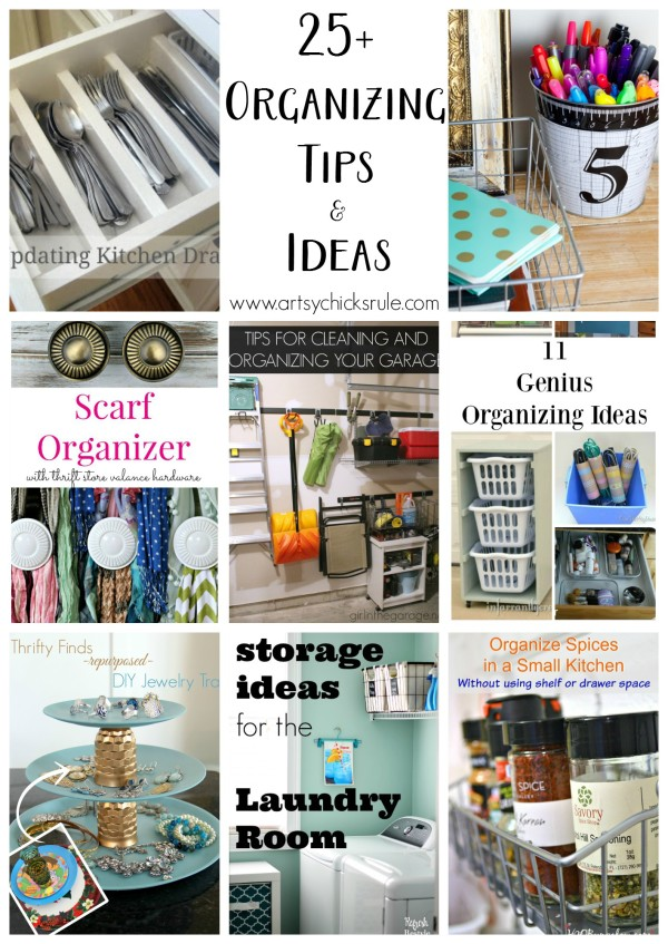 25+ Organizing Tips & Ideas - Talented Bloggers Share - artsychicksrule #organization #organizationtips #organize