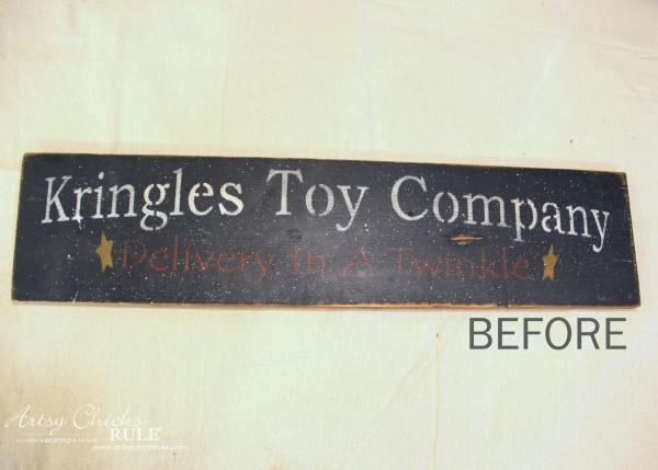Antiqued Laundry Sign - BEFORE - artsychicksrule #laundrysign #diylaundrysign