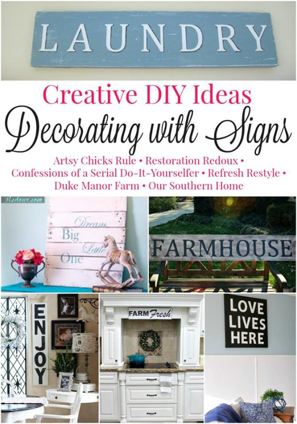 Decorating with Signs Challenge - artsychicksrule