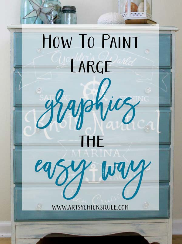 How To PAINT Large GRAPHICS the EASY WAY - artsychicksrule - #graphics #easytutorial