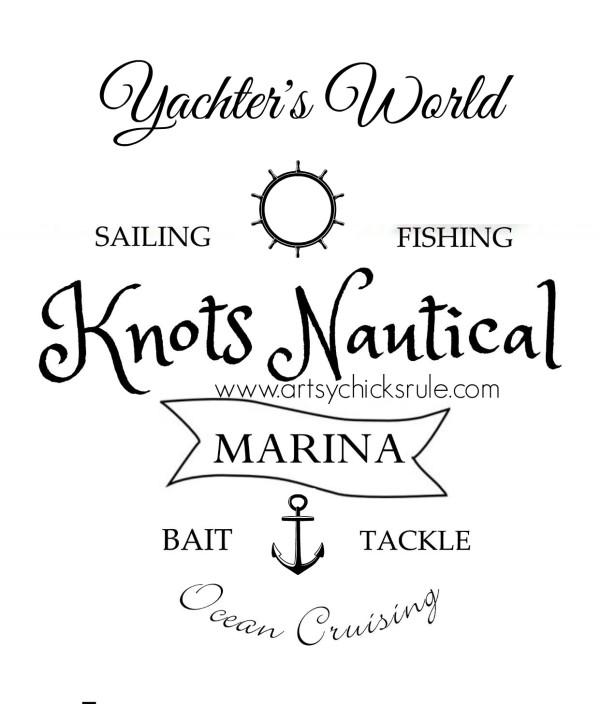 Knots Nautical Graphic - Printable - artsychicksrule