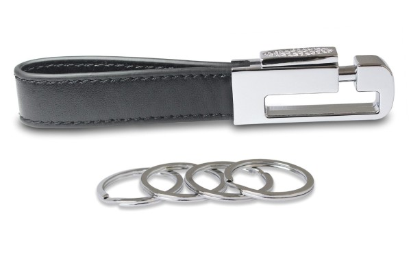 Olivery Leather Valet Key Chain with 4 Detachable Key Rings