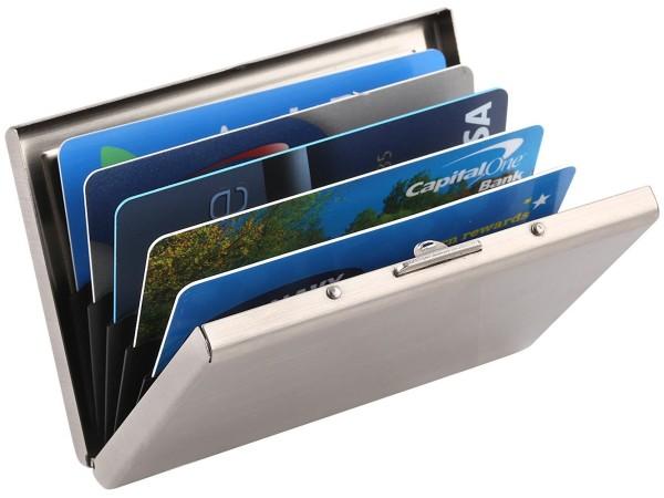 Zegur (TM) Stainless Steel Credit Card Holder Case with RFID Blocking Technology
