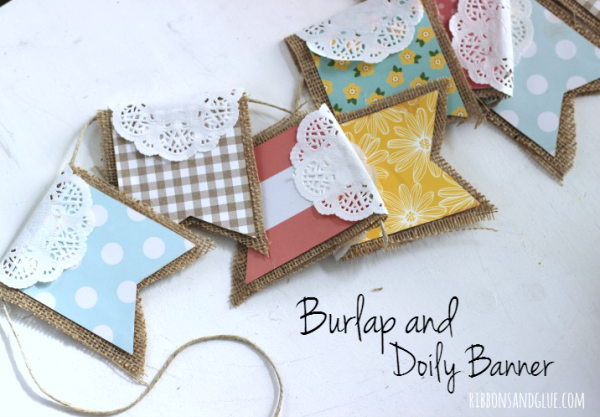 Burlap-and-Doily-Banner