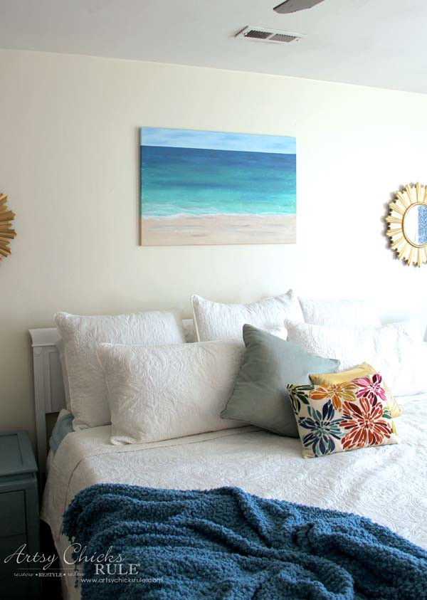 DIY Beach Painting - SO EASY - artsychicksrule.com