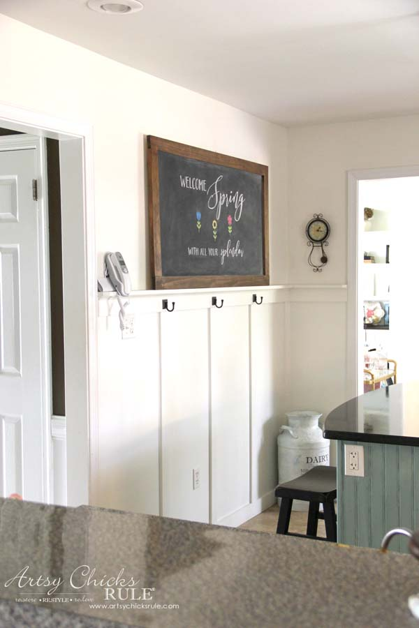 DIY Farmhouse Inspired Chalkboard a Tutorial Spring Chalk Art AND a FREE
