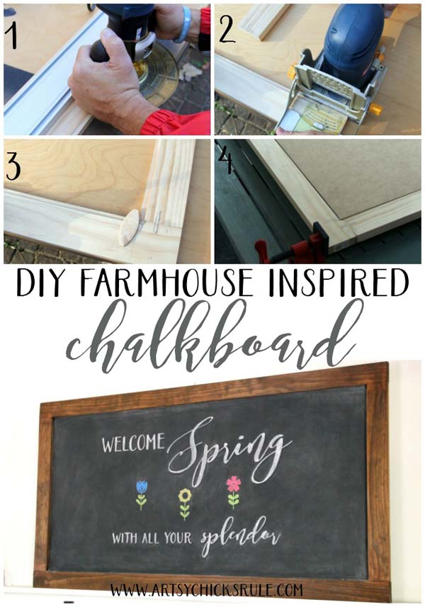 DIY Farmhouse Inspired Chalkboard!! Need to do this!!!