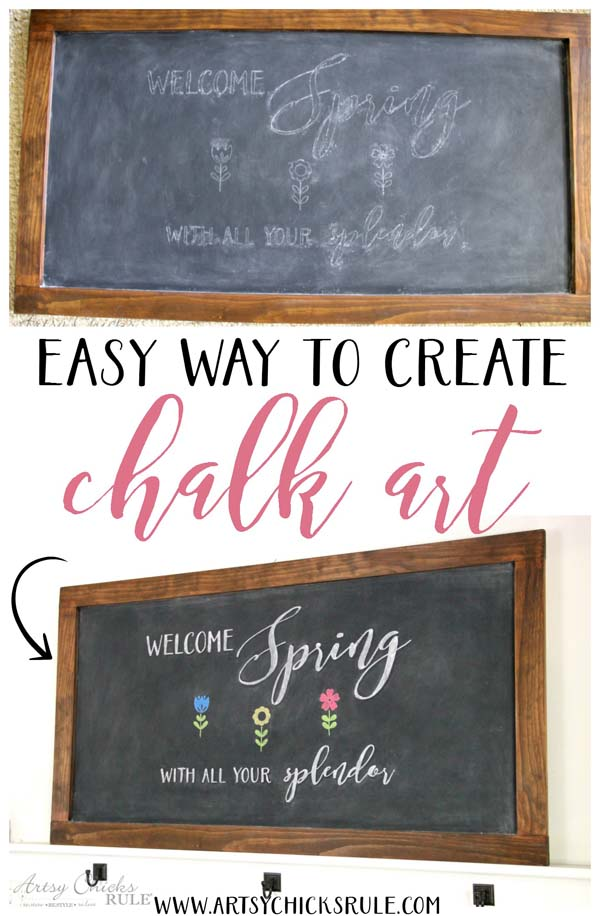 EASY way to create CHALK ART !! Must try it!!!