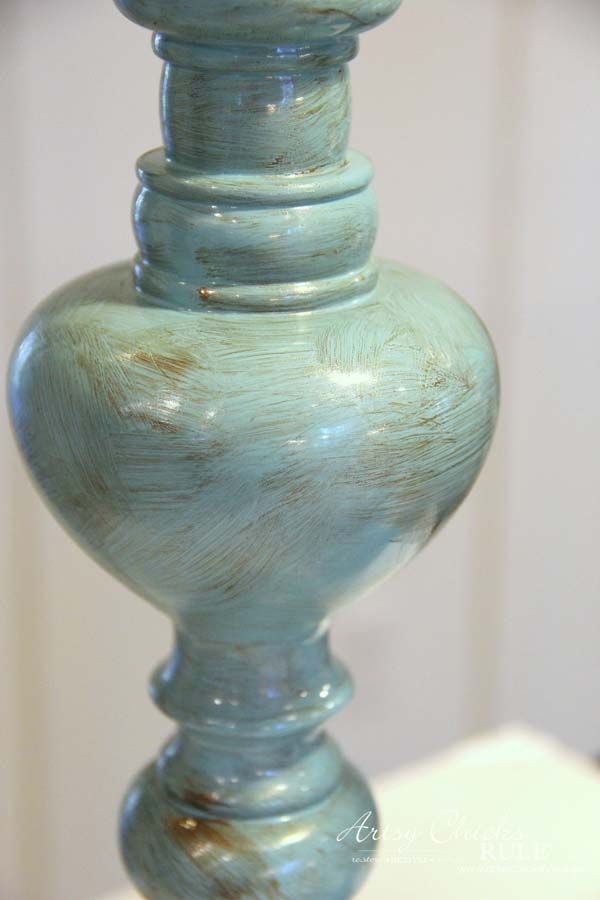 Painted Candlesticks - with bronze paint - artsychicksrule