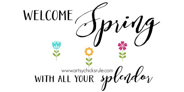 Spring Chalk Art FREE PRINTABLE!!! - artsychicksrule