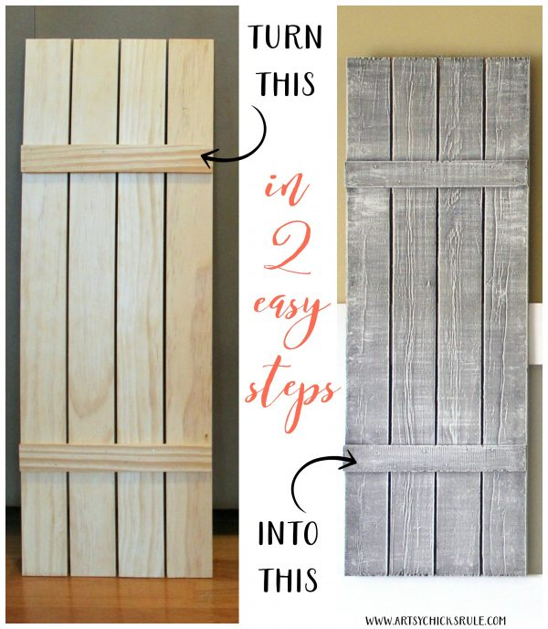 DIY Weathered Shutters