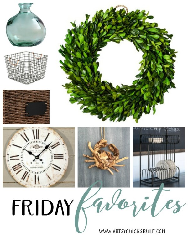 Friday Favorites 1 - artsychicksrule - #fridayfavorites #coastaldecor #farmhousedecor