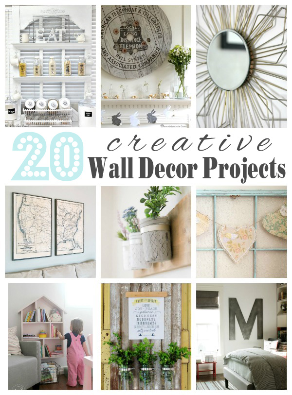 Get your diy on wall decor features artsy chicks rule - Unique wall decor ideas ...