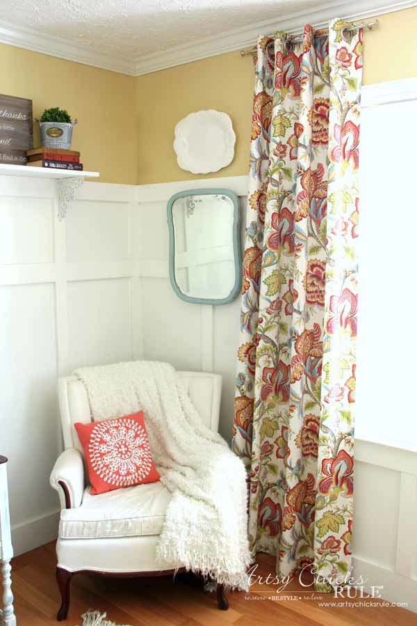 How To Make No Sew Curtains with Grommets - SO EASY - artsychicksrule #nosewcurtains #grommets