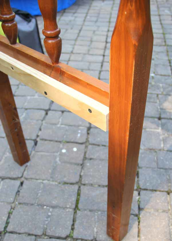 DIY Headboard Bench - ADDING BRACING - artsychicksrule.com #headboardbench
