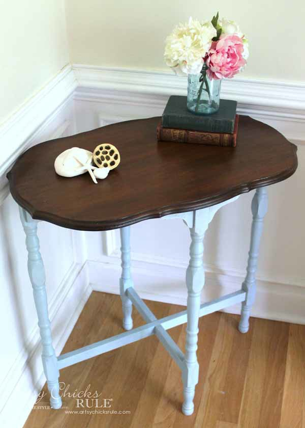 Side Table Makeover Amy Howard Paint Dust Of Ages Artsy Chicks Rule