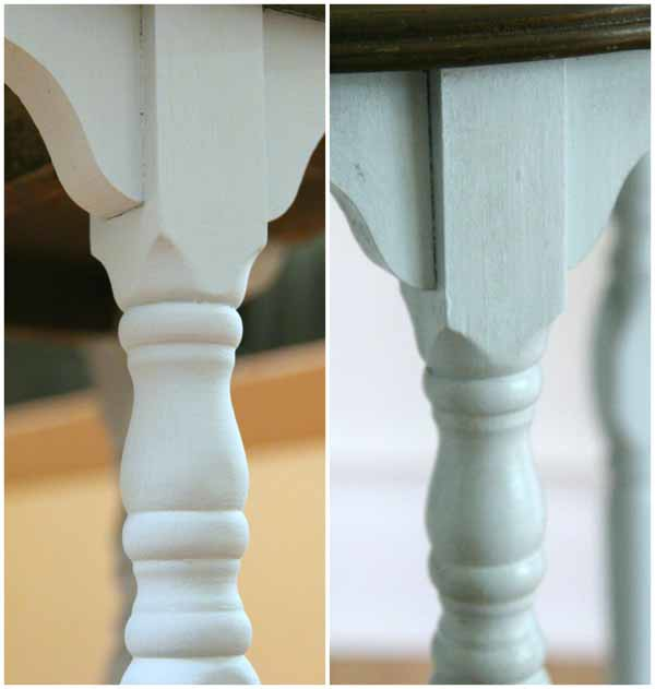 Side Table Makeover - Amy Howard Paint & Dust of Ages - BEFORE AND AFTER DUST -artsychicksrule #dustofages #amyhowardpaint