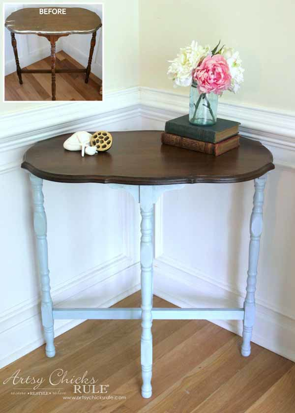 Side Table Makeover - Amy Howard Paint & Dust of Ages - EASY MAKEOVER -artsychicksrule #dustofages #amyhowardpaint