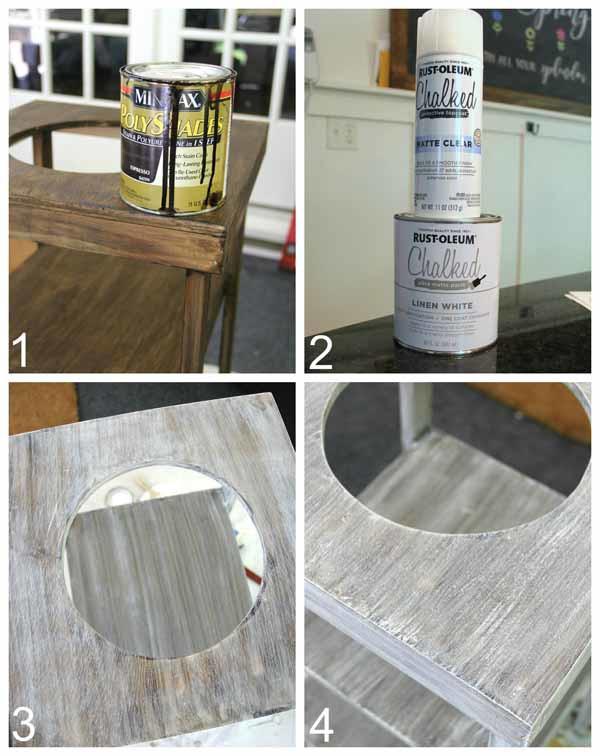 DIY Beverage Station Tutorial - Apply Paint or Finish - artsychicksrule.com #beveragestand