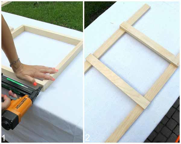 DIY Beverage Station Tutorial - Create Top Shelf Frame and Leg Frame - artsychicksrule.com #beveragestand