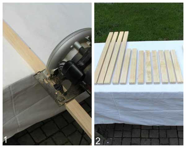 DIY Beverage Station Tutorial - Cut Legs and Frame - artsychicksrule.com #beveragestand