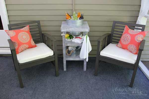 DIY Beverage Station Tutorial - Great for Parties - artsychicksrule.com #beveragestand