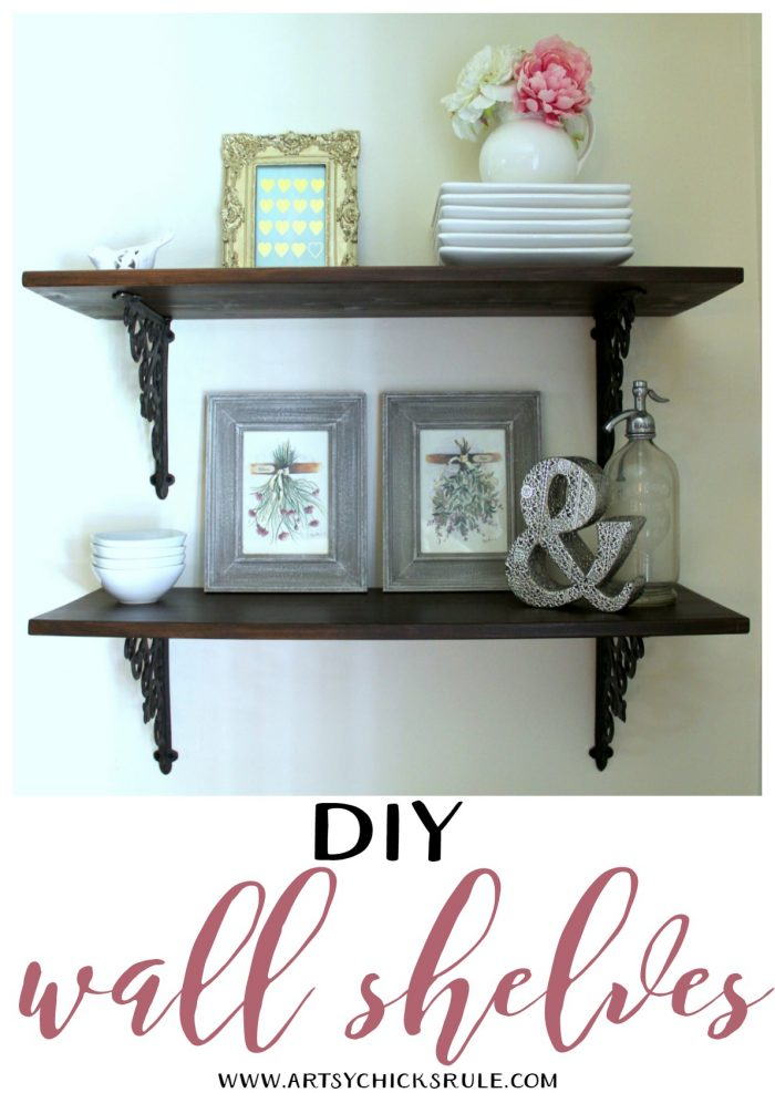 Dining room diy wall shelves artsy chicks rule for Easy diy wall shelf