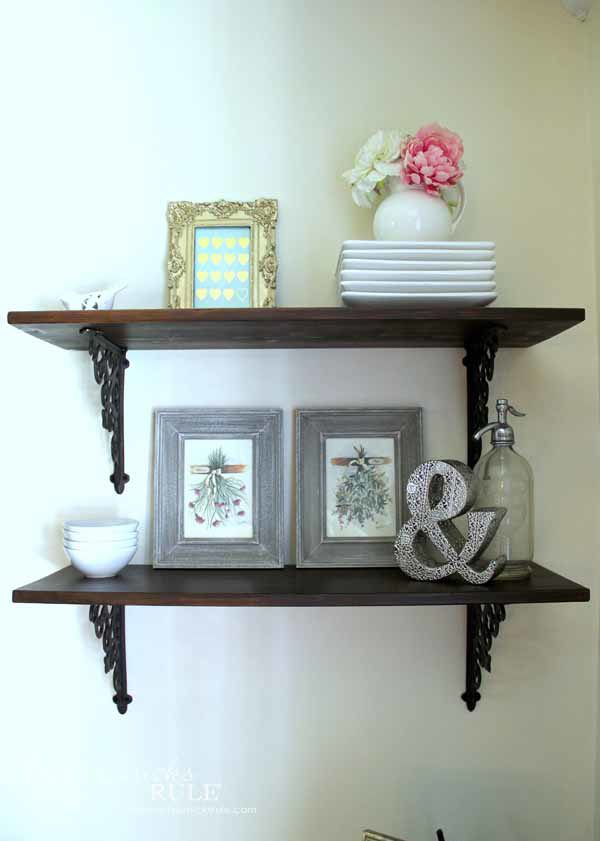 Diy full wall shelves the image kid has it - Shelves for dining room ...