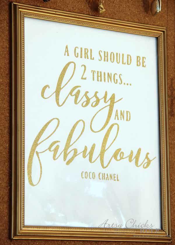 DIY Jewelry Organizer - Classy and Fabulous Quote - artsychicksrule #jewelryorganizer #popularpins