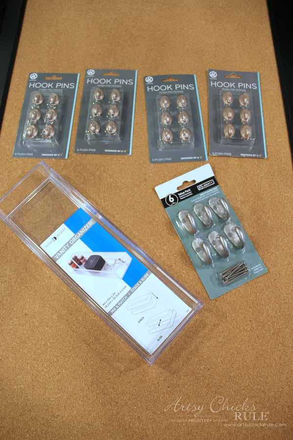 DIY Jewelry Organizer - items needed - artsychicksrule #jewelryorganizer #popularpins