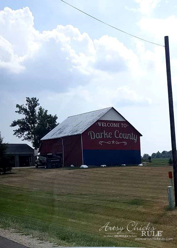 GMC & The World's Longest Yardsale - more red barns - artsychicksrule #worldslongestyardsale #gmc